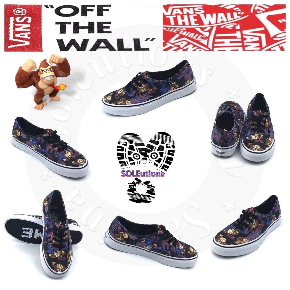 Details about Vans x Nintendo Authentic Donkey Kong Skate Shoes M7.5 W9 4352ad025