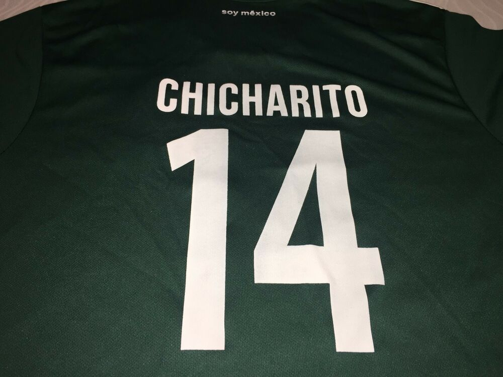 2b60417bd59 Details about 2018 ADIDAS MEXICO SOCCER FIFA WORLD CUP  14 CHICHARITO MEN S  LARGE JERSEY SHIRT