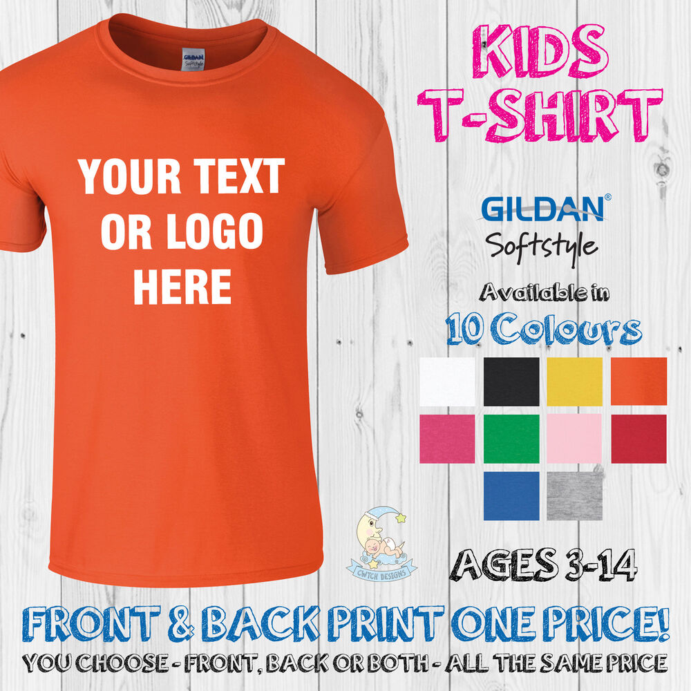 bf273f03aab268 Details about Childrens Printed T Shirt Custom Personalised Kids Birthday  Sports Tee Top Text