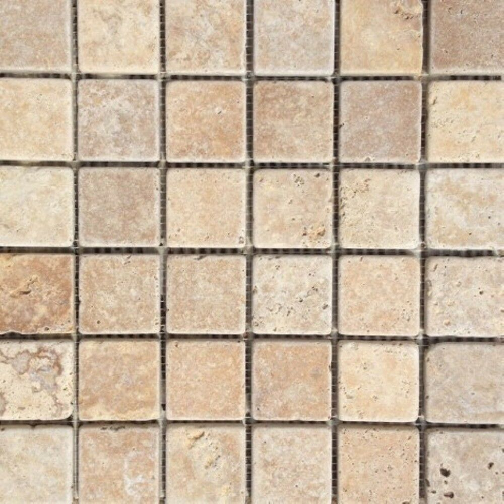 Details About Yellow Travertine Mosaic Wall Floor Tiles
