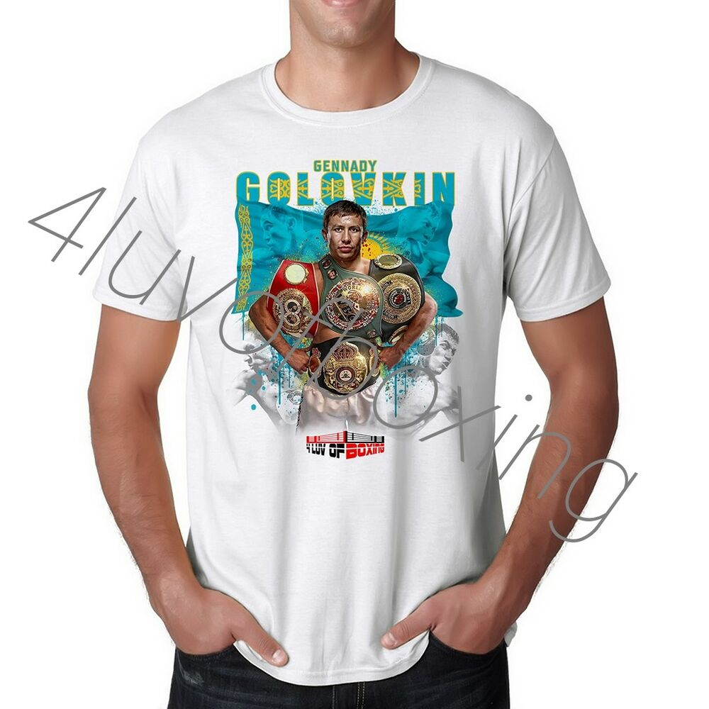 6bf45c6074a0 Details about Gennady Golovkin Boxing Shirt New GGG Apparel 4LUVofBOXING WH  Tee Triple G