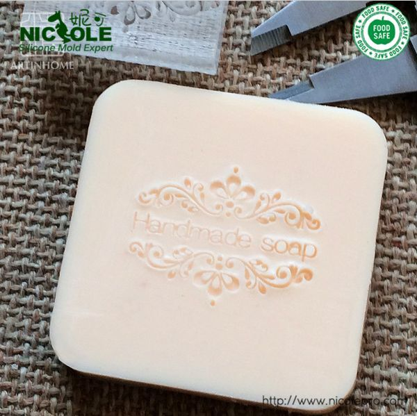 Details About 4X4cm 0079 DIY Natural Handmade Acrylic Soap Seal Stamp Custom Stamps