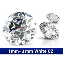 Pack of 10 Cubic Zirconia Excellent Quality Loose Round Cut Stones 7A CLEAR CZ