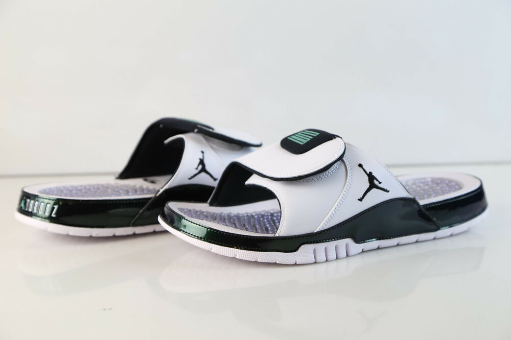 55fe6817c503ec Details about Air Jordan Hydro XI Retro Slide Easter Emerald Rise White  AA1336-117 7-14 sandal