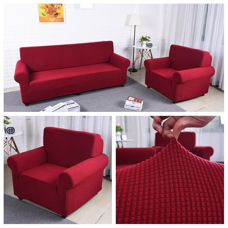 Covering A Sofa With Fabric: US Size Thicken Stretch Elastic Fabric Sofa Cover
