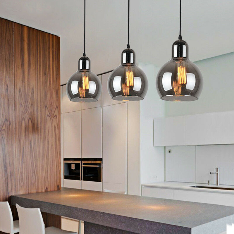 Kitchen Pendant Light Bar Ceiling Lights Modern Lamp Glass