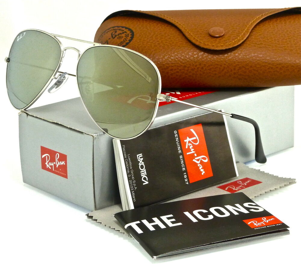 1f629ac639d4 Details about Ray-Ban Aviator Silver l Polarized Silver Mirror RB3025  003 59 58mm