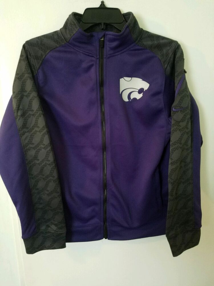 97a1d8db5bd3 Details about Kansas State Jacket Nike Performance size YOUTH XL Purple  Gray Zip Up WILDCATS