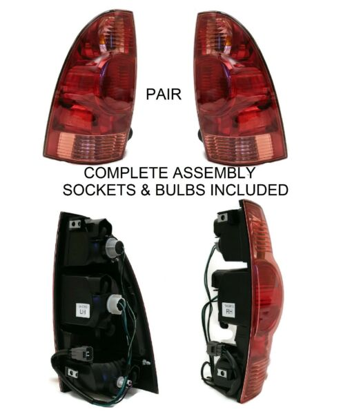 NEW PAIR - DRIVER & PASSENGER REAR BRAKE TAIL LIGHTS FOR 2005-2015 TOYOTA TACOMA