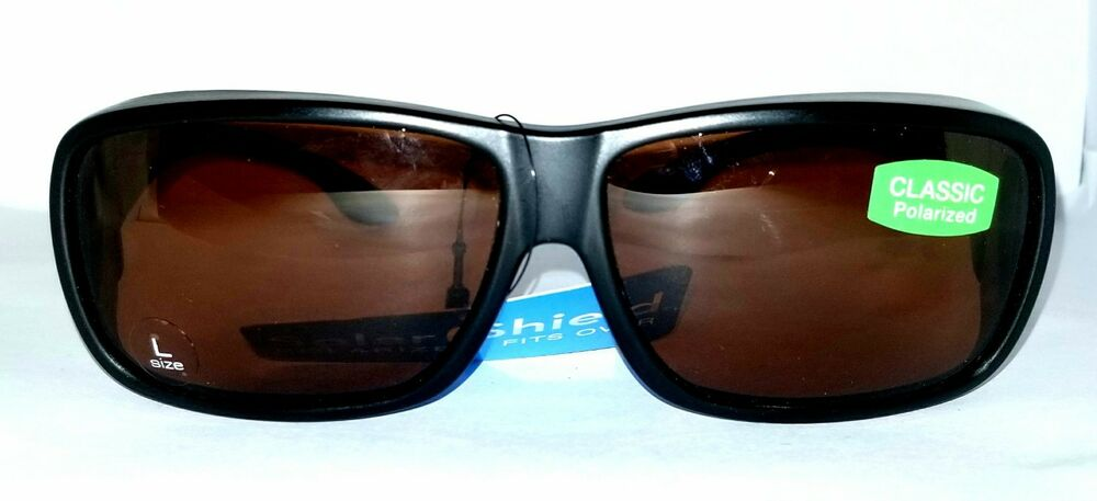 7f6e32dbdb Details about Foster Grant International FGX Solar Shield Polarized Driver Sunglasses  Fit over
