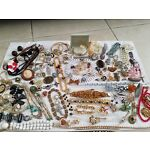 Huge lot of vintage jewelry for repair crafts some wearable jewelry