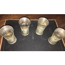 Vintage Silver Cups With Dragon