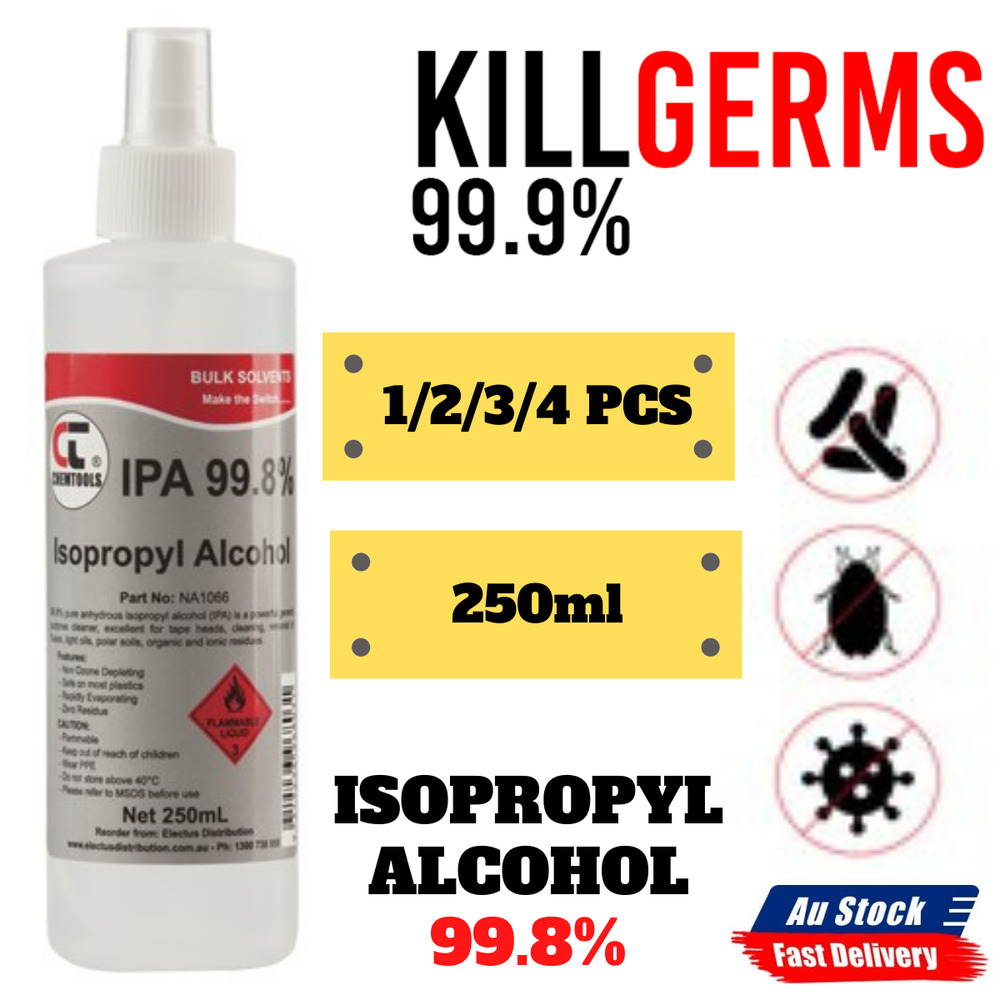 Details About 1x 2x 3x 4x New Isopropyl Alcohol 998 Spray 250ml Bottle House Office Cleaning