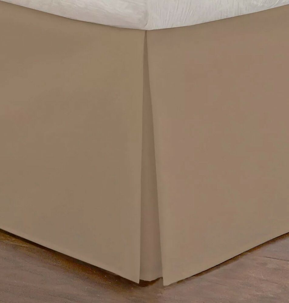 Today S Home Tailored Queen Size Bedskirt 14 Drop Length Mocha Brown Ebay