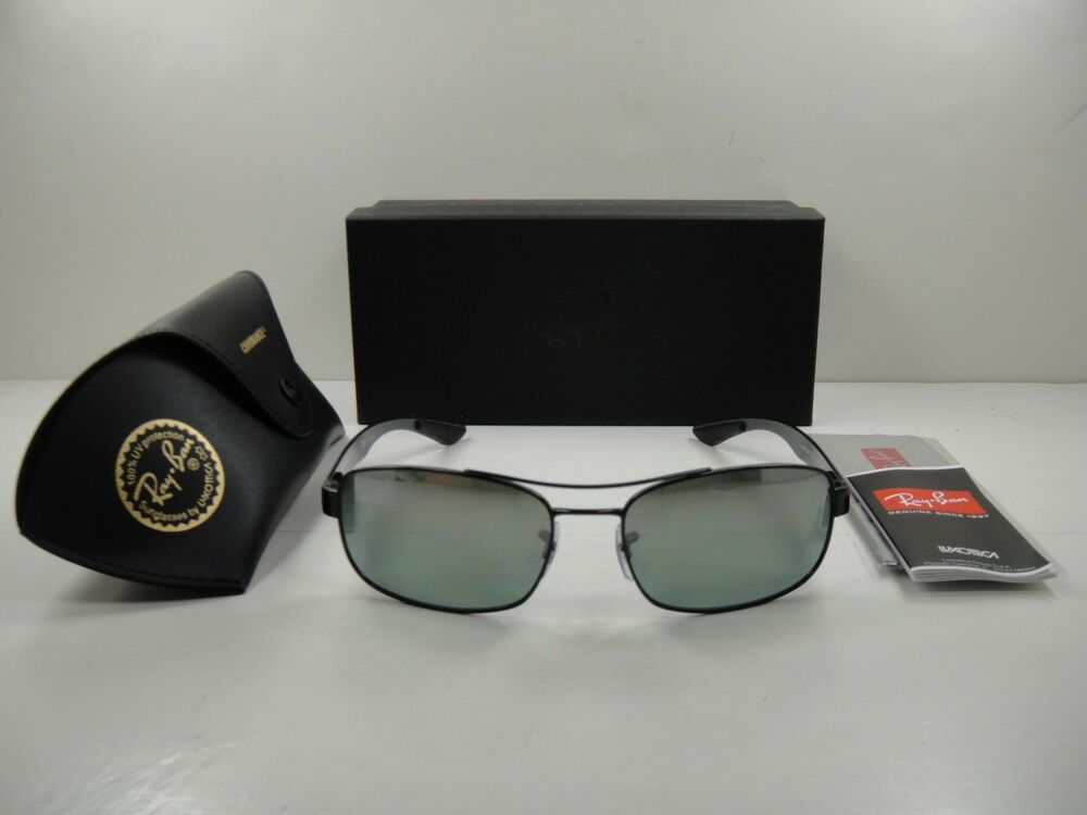 07862114c5 Details about RAY-BAN CHROMANCE POLARIZED SUNGLASSES RB8318CH 002 5L BLACK GREY  MIRROR 62MM