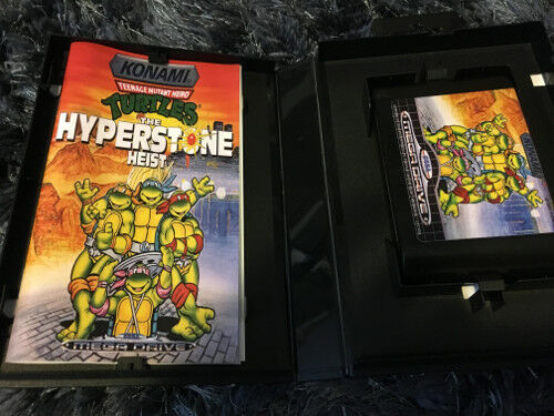 Color Custom Manual TMNT HYPERSTONE Mega Drive PAL Version - AAA+++