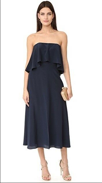 59e6ce4197f0 Details about Zimmermann Strapless Flounce Dress | Navy | Bridesmaid,  Formal, Cocktail $750 RP