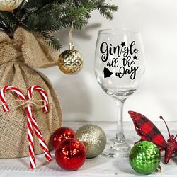 Christmas Sticker   Gin gle all the Way   Christmas table Decoration   Novelty