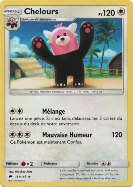 Rare Persian X1 SL3-102//147 Pokemon VF Français