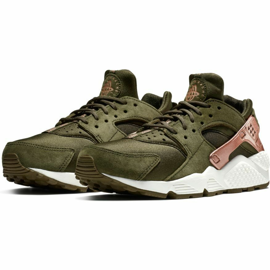 fefc0851b9a5 Details about Nike Women s Air Huarache Run NEW AUTHENTIC Olive Rose Gold  AT5700-300