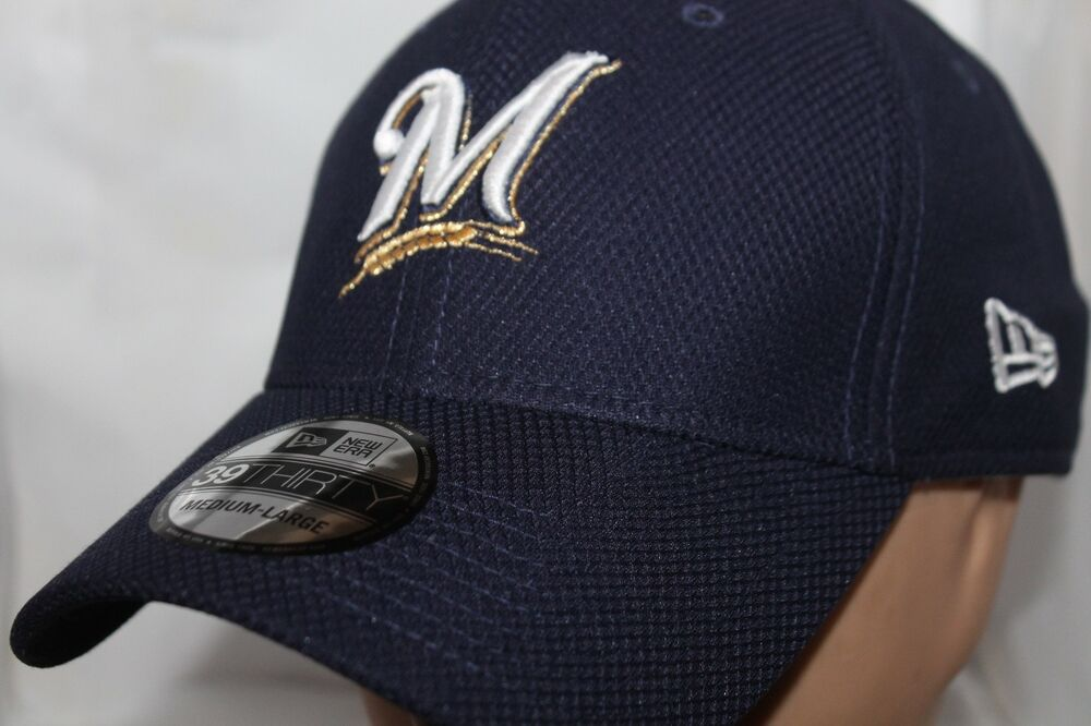 Details about Milwaukee Brewers New Era MLB Diamond Classic 39thirty a63ad537199