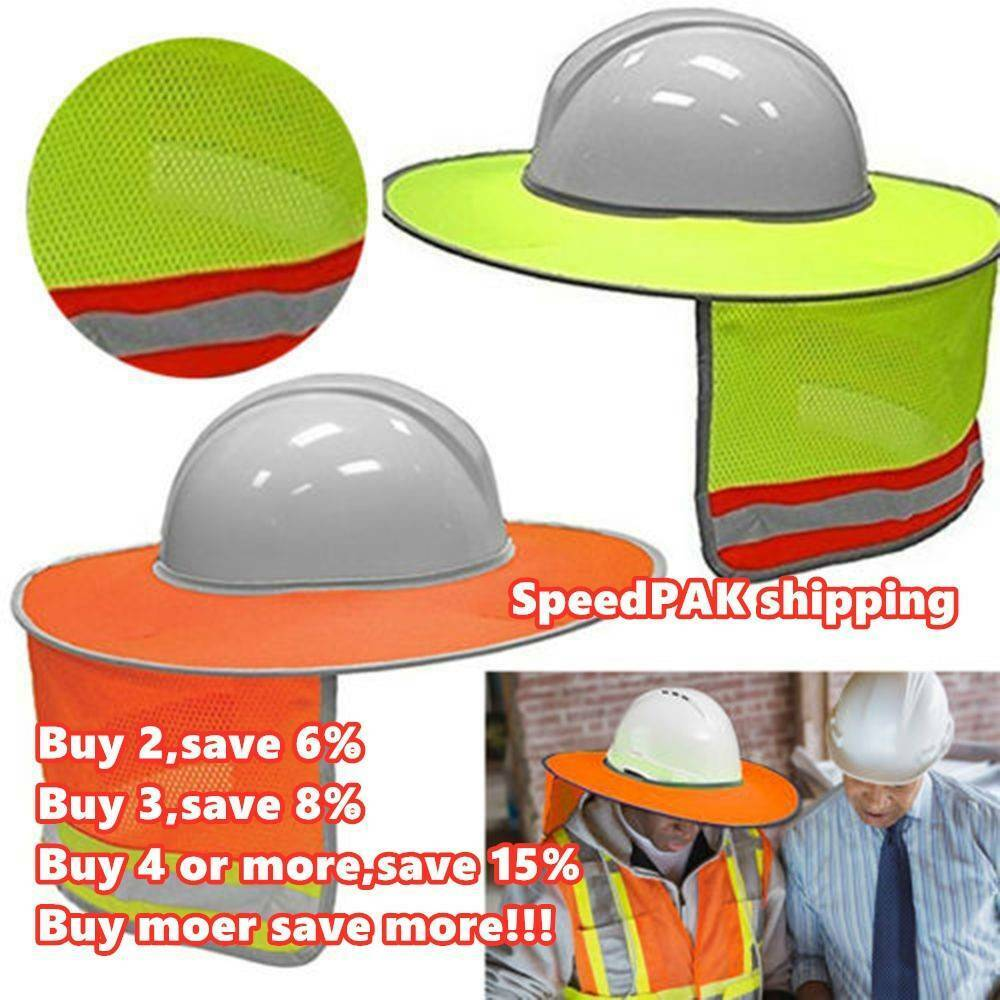 Details about Construction Safety Hard Hat Neck Shield Helmet Sun Shade  Reflective Cover Kits- c23143aa99e