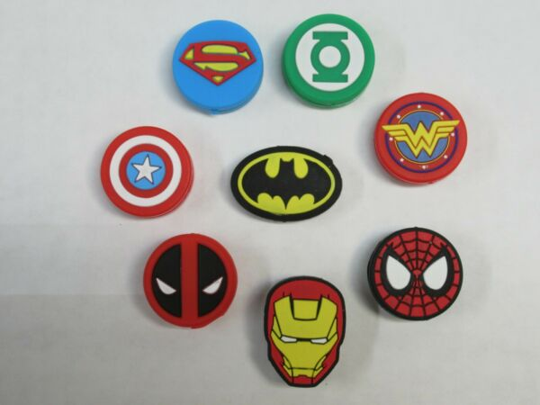 *NEW* CHOICE OF 3 SUPER HEROES SILICONE VIBRATION DAMPENERS FOR TENNIS RACQUETS
