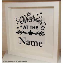 Christmas at NAME, vinyl sticker for IKEA SANNAHED BOX FRAME