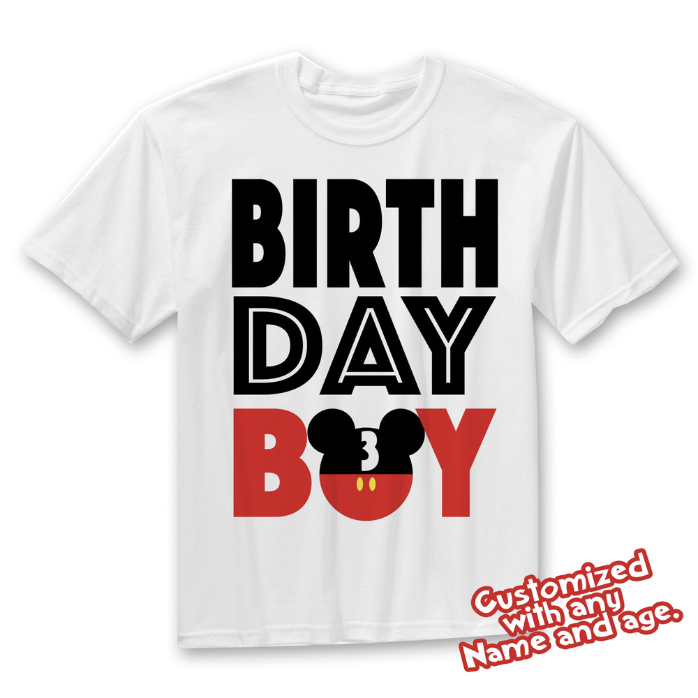 Details About Matching Disney Family Birthday Boy Tshirts