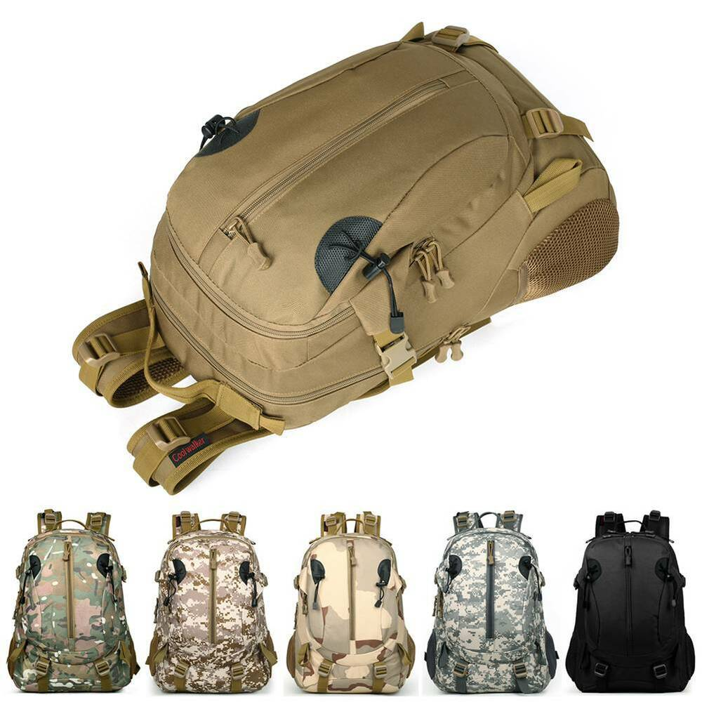 0b5a31b898 Details about Outdoor Tactical Military Backpack Waterproof Camping Hiking  Bag Travel Rucksack