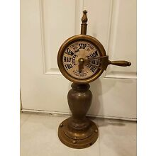 Vintage Antique Brass Engine Order Ship Telegraph 24