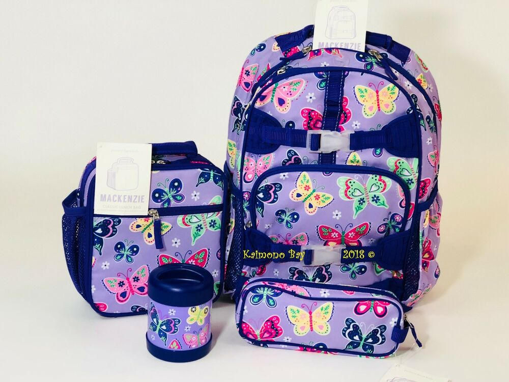 Pottery Barn Kids Mackenzie Backpack Purple Butterfly