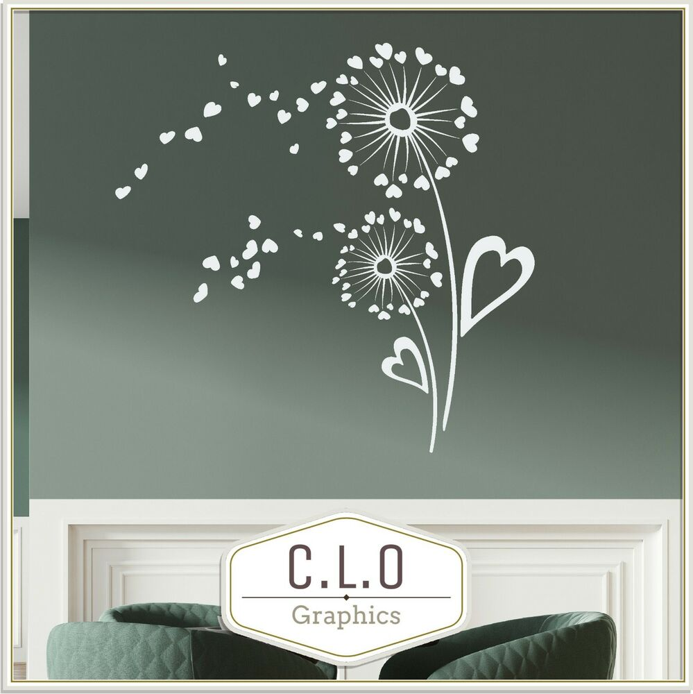 Details about dandelion wall sticker giant vinyl transfer flower art decal home decor graphic