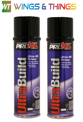 PRO XL ULTRA HIGH BUILD PLASTIC & ALUMINIUM PRIMER AEROSOL CAN SPRAY ALU X2