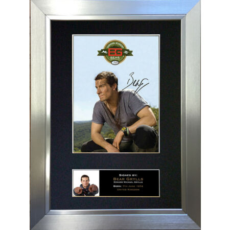 img-BEAR GRYLLS Signed Autograph Mounted Reproduction Photo A4 Print 342