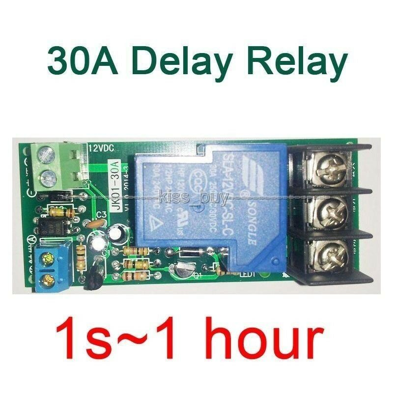 Dc 12v Multifunction Delay Timing On  Off Relay Module 30a