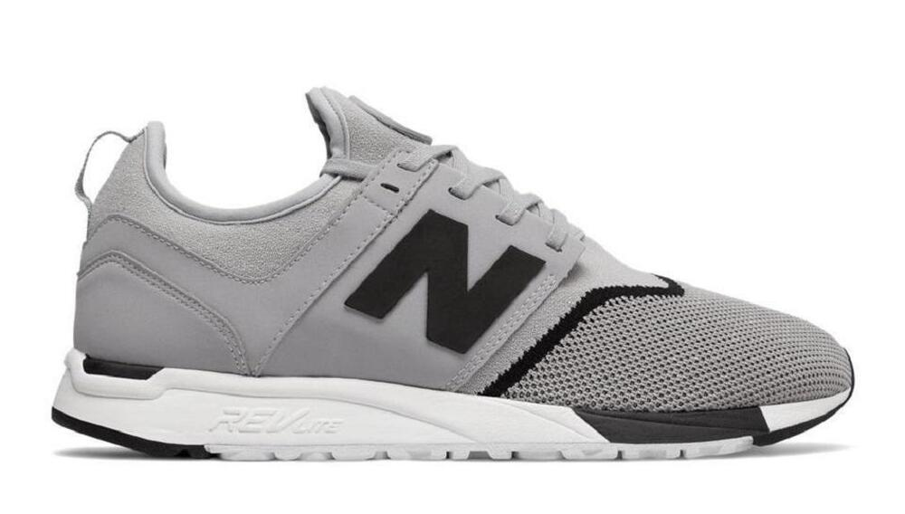 check out a6b73 87887 Details about Mens New Balance Grey Black 247 Trainers MRL247SI