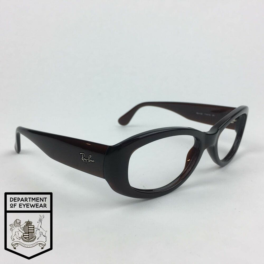 0b2dbd2083 Details about RAY BAN eyeglass DARK TAN RECTANGLE frame Authentic.MOD  RB  4135