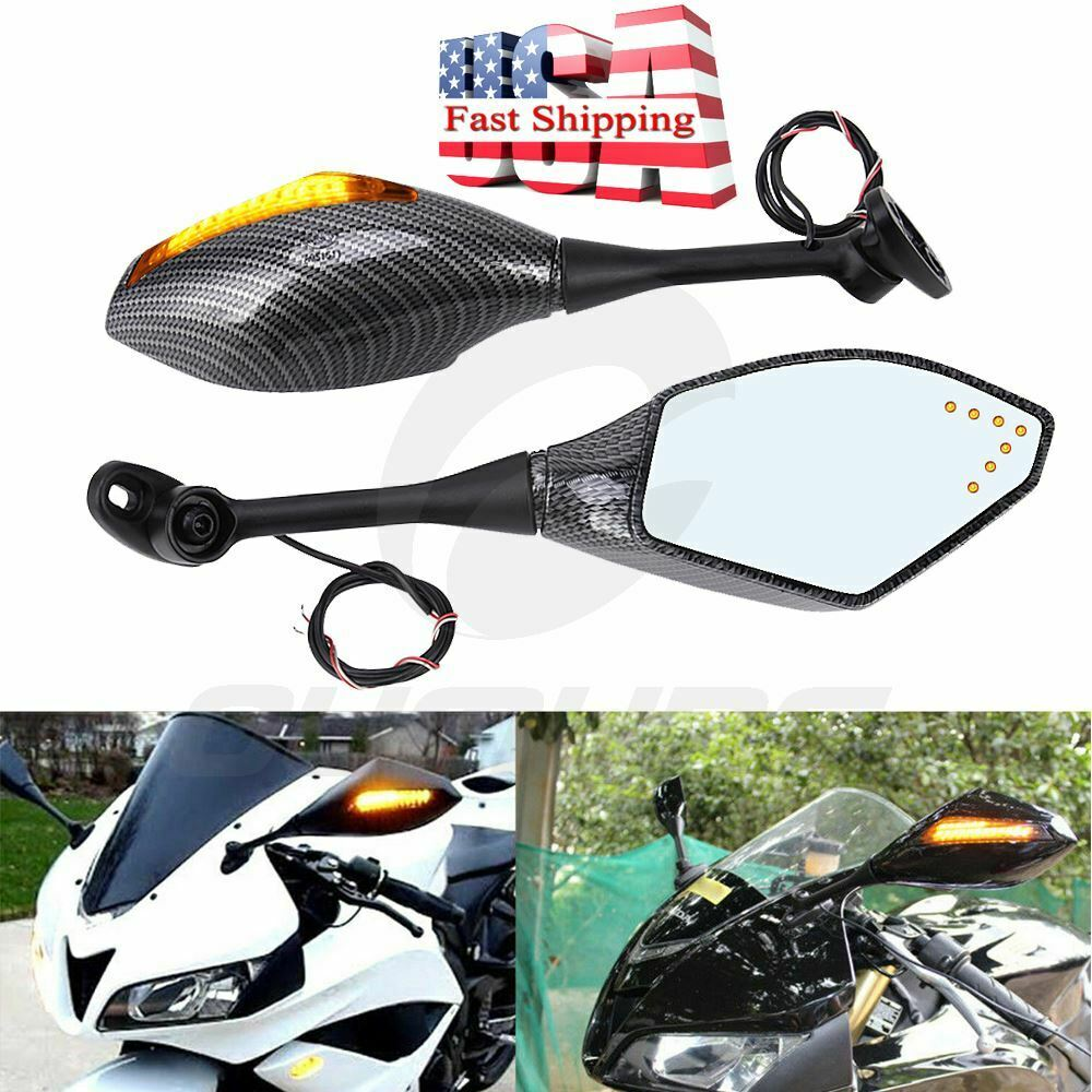 Turn Signal Integrated Mirrors Led Light For Honda Cbr1000rr Cbr600 Cbr600rr Wiring Diagram Motorcycle Side Mirror 04 07 Suzuki