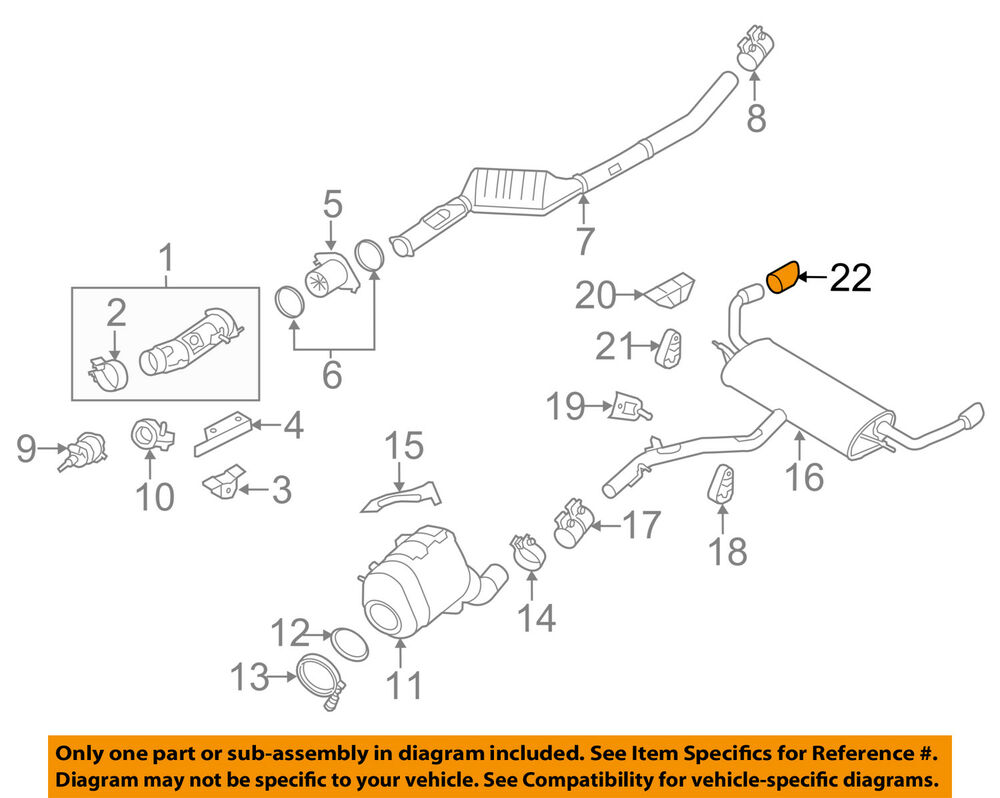 bmw oem 14 16 x5 30l l6 exhaust system tail pipe extension
