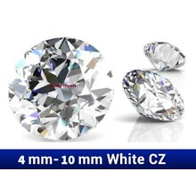 Cubic Zirconia Excellent Quality Loose Round Cut Stones 7A CLEAR CZ 4mm to 10mm
