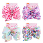8 inch Cartoon JOJO SIWA Rainbow Hair Bow With Alligator Clip Girl Kids Bowknot