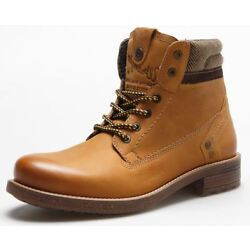 Wrangler Hunter Lace Up Leather Boots Camel Tan