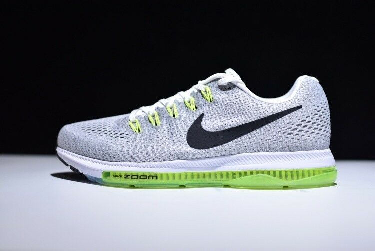 quality design 24d7a a80d4 Details about Mens Nike Air Max Zoom All Out Running Sneakers New, White  Gray Volt 878670-107