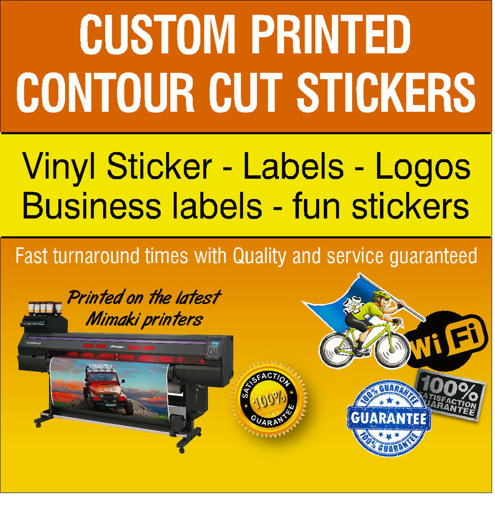 Details about bulk sticker custom print vinyl your design decals labels logo stickers printing