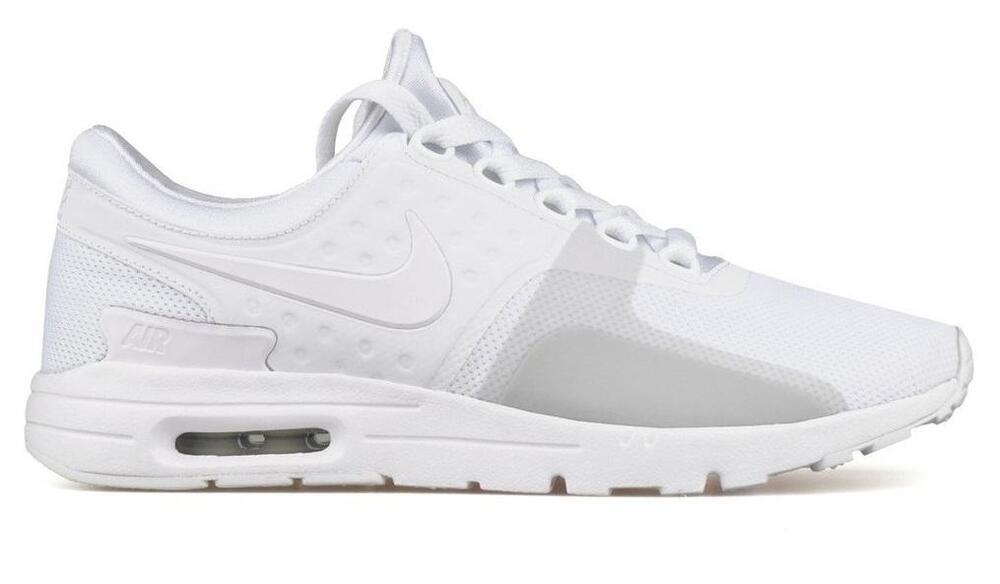 af1853d10dad Details about Womens NIKE AIR MAX ZERO White Running Trainers 857661 104