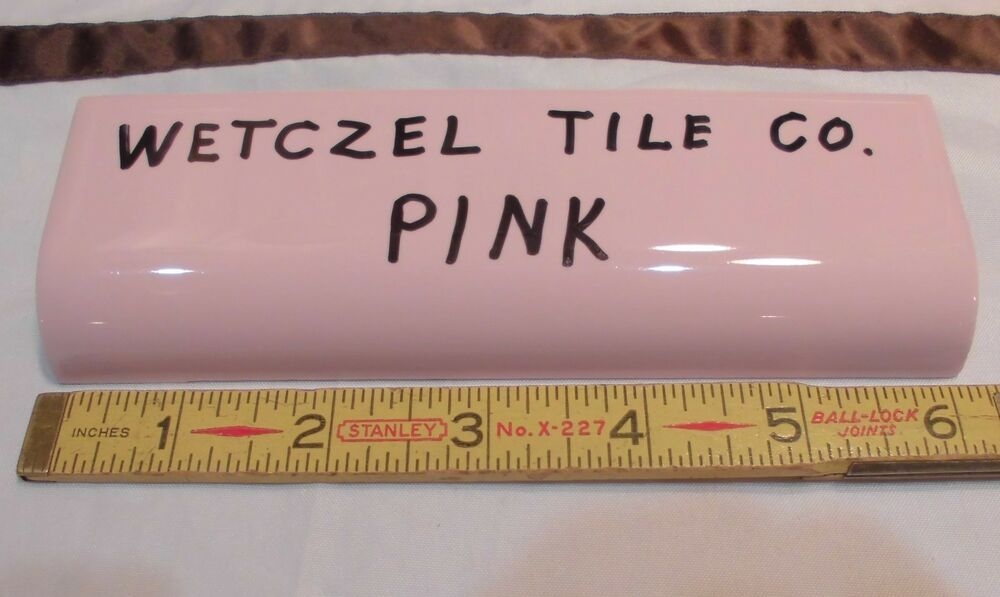 1 Pc Vintage Pink Glossy Ceramic Tile Radius Bullnose By Wenzcel