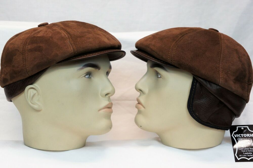 27bcafaa0ef Details about ESPRESSO 100% SUEDE LEATHER Gatsby Newsboy Ivy Golf Driving  Flat Cabbie Hat S-3X