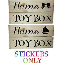 Personalised Toy Box, Toy Crate, Christmas Gift/Crate, Children's Toy Box Decal