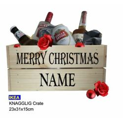 Merry Christmas Hamper/Crate/Gift Box, DIY Personalised Gift, STICKER ONLY